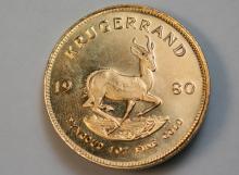 1980 Krugerrand gold coin
