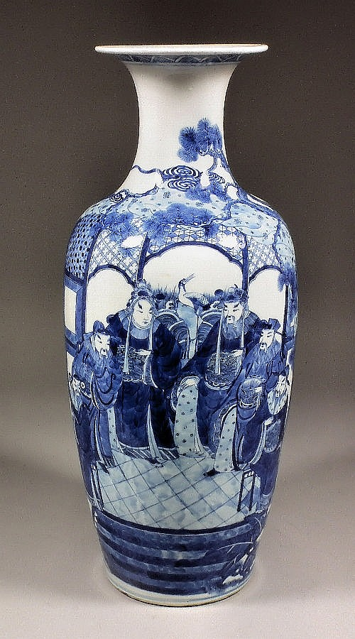 A 19th Century Chinese blue and white porcelain