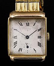 A gentleman's 18ct gold Longines