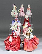 Nine Royal Doulton bone china figures, comprising -