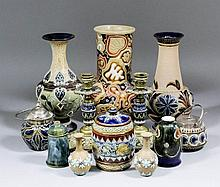 A collection of late 19th Century Doulton Lambeth stoneware, including - Pa