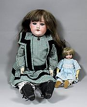 A late 19th/ early 20th Century Armand Marseille No. 390 bisque headed doll