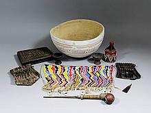A small collection of artifacts, comprising - 19th Century Nupe (Northern N