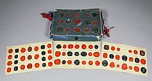 A collection of 19th Century red and black wax seals mounted on twelve card