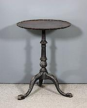 A mahogany circular tray top tripod occasional table of George III design,