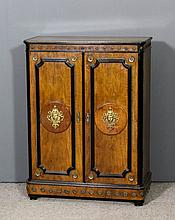A late 19th Century French walnut, ebonised and gilt brass mounted dwarf co