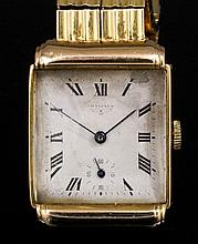 """A gentleman's 18ct gold Longines """"Record"""" wristwatch, Model No. 6230092, th"""