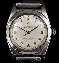 A late 1950s boy's stainless steel Rolex Oyster Perpetual chronometer, the