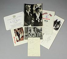 A small mid 20th Century archive of letters and ephemera belonging to the l