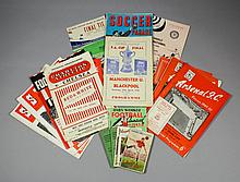 A small collection of 1940s/1950s printed football memorabilia, including -