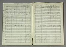 "George Martin - an interesting autographed musical score for ""Bridge over T"