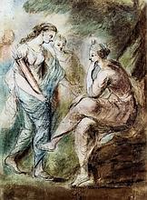 Follower of Angelica Kauffmann (1741-1807) - Pastel - Three classically att