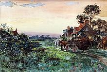 W.R. Coast (?) (19th Century English school) - Pair of watercolours - Rural