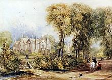 19th Century English School - Watercolour - View of Perry Hall, Birmingham,