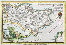 Four 18th Century coloured engraved maps, comprising - Thomas Kitchin (18th