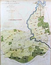 "John Bayly (18th Century English school) - Two coloured engravings - ""A map"