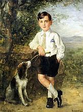 Bernard Johan de Hoog (1866-1943) - Oil painting - Full length portrait of