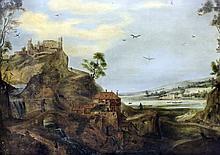 Style of Adriaen Van Stalbernt (1580-1660) - Oil painting - Romantic river