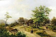 Hendrik Pieter Koekkoek (1843-1927) - Pair of oil paintings - Rural landsca