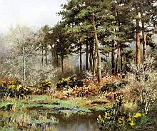 """Walter Boodle (1862-1914) - Oil painting - """"A Corner of Clapham Common"""", bo"""