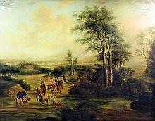 In the manner of Adriaen Van De Velde (1636-1672) - Oil painting - Rural la