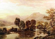 19th Century English School - Watercolour - Lake District mountainous lands