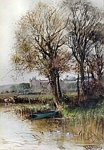 """Henry Charles Fox (1860-1929) - Watercolour - """"Windsor"""" - View of Windsor C"""