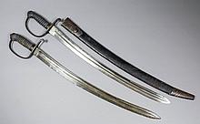 A 19th Century European Artillery short sword, the 23.5ins steel blade with
