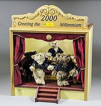 A modern Steiff Millennium bandn comprising five small Steiff teddy bear mu