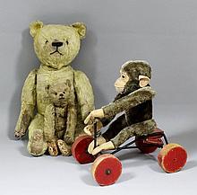 An early 20th Century Continental miniature teddy bear in the Steiff manner