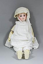 A late 19th Century French Bru Jaune R9 bisque headed Walking/ Talking/ Kis