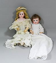 A late 19th Century/ early 20th Century German Wimpern bisque headed doll w