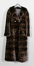 A late 20th Century National Fur Company lady's black ranch mink double bre