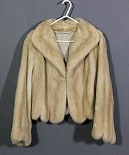 A late 20th Century National Fur Company lady's blond mink short jacket, wi