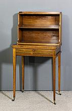A George III ladies rosewood Bonheur de Jour with removable two tier bookca