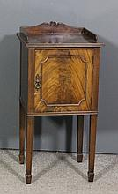 An early 20th Century mahogany tray top bedside cupboard of Georgian design
