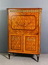 A 20th Century French Kingwood and Ormolu mounted television cabinet of Lou