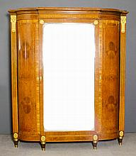 A French satinwood and gilt metal mounted break-front wardrobe, the whole i