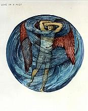 Sir Edward Coley Burne-Jones (1833-1898) - Collotype with gouache -