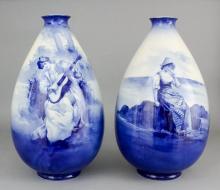 A pair of Royal Doulton pottery