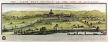 Samuel & Nathaniel Buck (1696-1779 and 1695-1795) - Two coloured engravings -