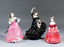 Two Royal Doulton bone china figures -