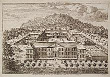 An 18th Century engraving - Birdseye view of