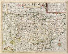 John Norden (1548-1625) - Coloured engraving -