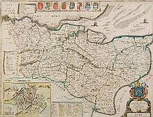Phillip Lea (fl. 1683-1700) - Coloured engraving -