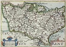 In Manner of John Speed (1552-1629) - Coloured
