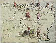 Michael Drayton (1563-1631) - Coloured engraving -