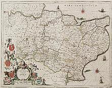 Jan Jansson (1596-1664) - Coloured engraving -