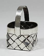 A Cartier sterling silver square ring basket,