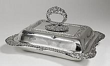 An Edward VII silver rectangular entree dish and